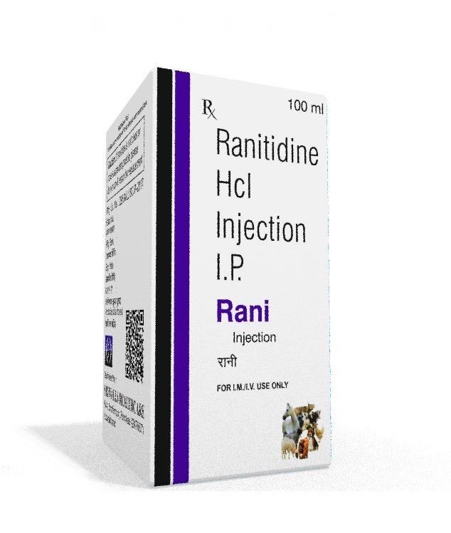 Veterinary Ranitidine 100 ml Injection