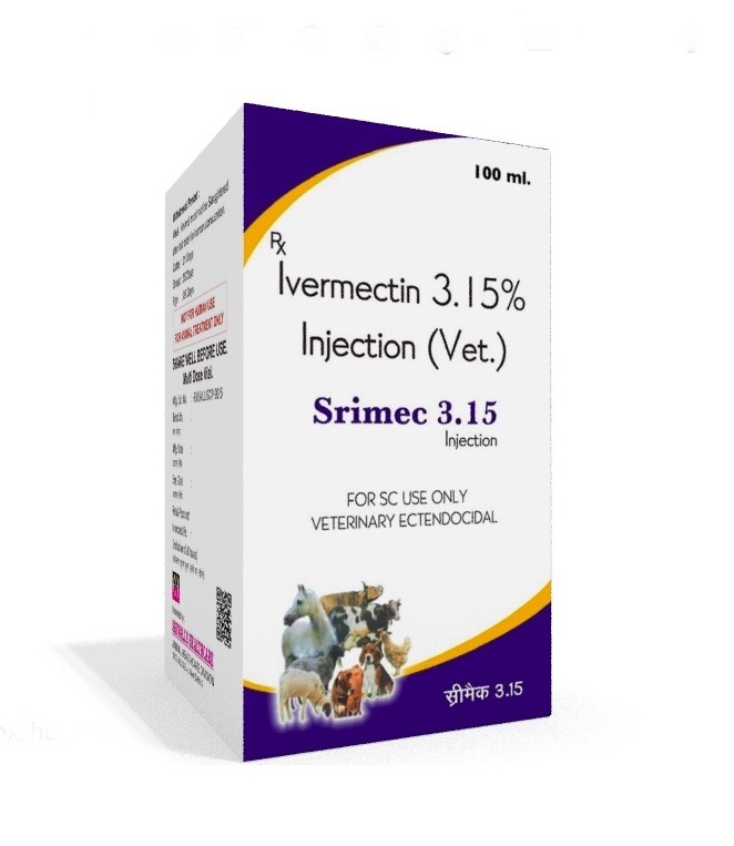 Veterinary Ivermectin 31.5 mg/ml 100 ml Injection