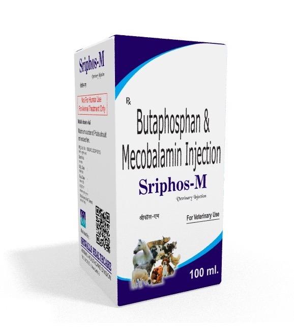 Veterinary Butahosphanl & Methylcobalamin 100 ml Injection