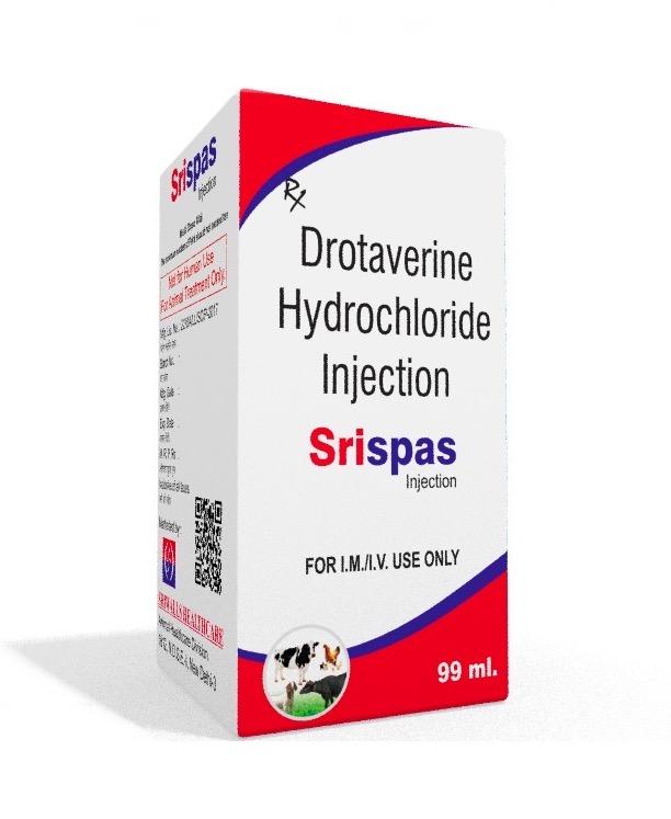 Veterinary Drotaverine 20 mg/ml 100 ml Injection