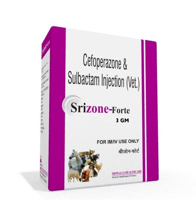 Veterinary Cefoperazone Sulbactam 3 gm Injection