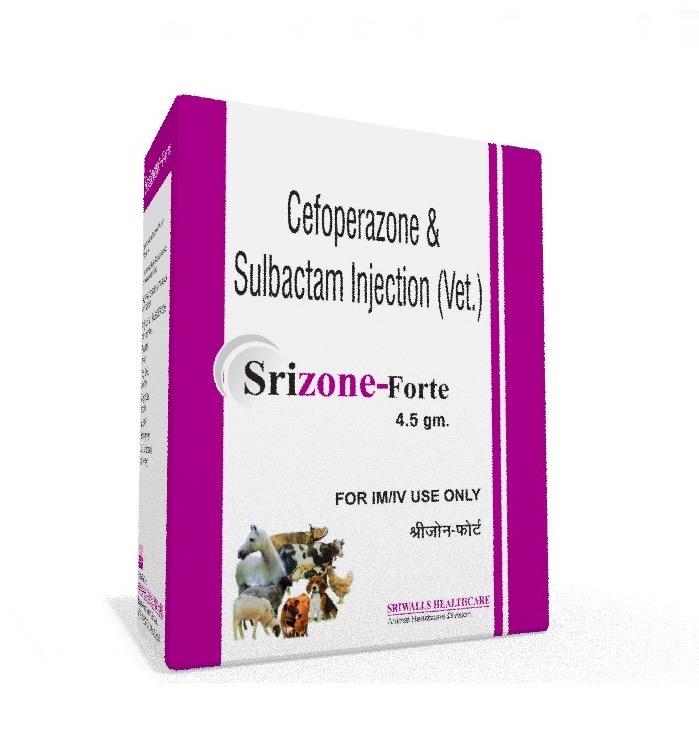 Veterinary Cefoperazone Sulbactam 4.5 gm Injection